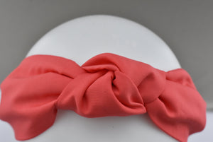 Ladies Tot Knot Alice band - Liberty of London Coral Red-Adult hairband-Tot Knots of Brighton