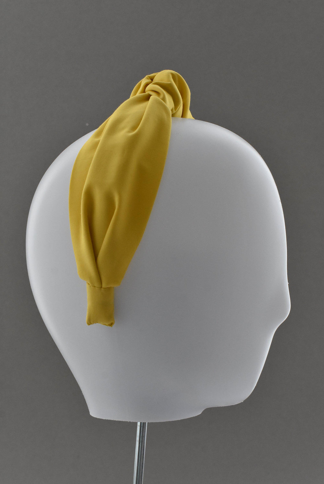 Ladies Tot Knot Alice band - Liberty of London Bright Yellow - Tot Knots of Brighton