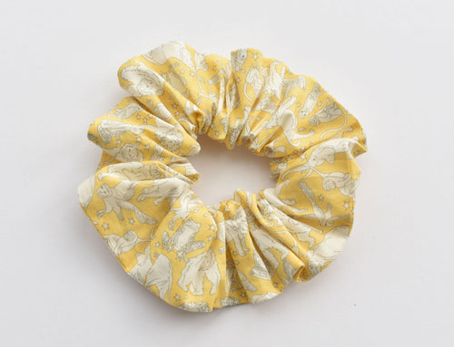 Yellow Midnight Mischief Animal Print Scrunchie - Tot Knots of Brighton