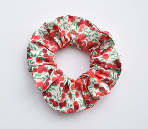 Red and White Berry Liberty of London Wiltshire Scrunchie - Tot Knots of Brighton