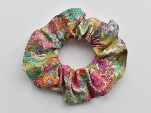 Bright Foxglove Floral Scrunchie - Tot Knots of Brighton