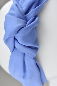 Ladies Tot Knot Alice band - Liberty of London Periwinkle blue - Tot Knots of Brighton