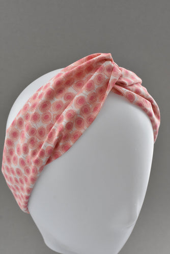 Kids Tot Knot Twisted hairband - Liberty of London Pink floral print-Children hairband-Tot Knots of Brighton