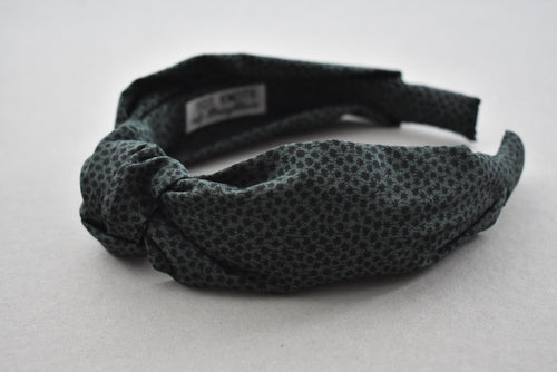 Kids Tot Knot Alice band - Liberty of London Green Marco print