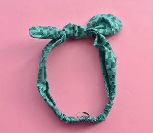Tot Knot hairband - Liberty of London Jade Farhad Graphic - Tot Knots of Brighton