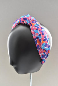 Luxury Silk Knot Alice band -  Liberty of London Artist Morning Dew crepe
