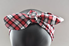 Ladies Tot Knot hairband - Liberty of London Red and Black Tartan