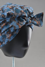 Ladies Turban Hat - Liberty of London Little Eustacia in Blue