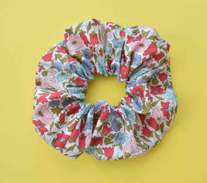 Poppy and Daisy Floral Scrunchie - Tot Knots of Brighton