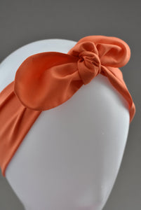 Ladies Tot Knot hairband - Liberty of London Tangerine