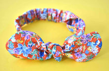 Ladies Tot Knot hairband - Californian Red Floral - Tot Knots of Brighton