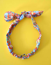 Tot Knot hairband - Liberty of London Californian Red Floral - Tot Knots of Brighton