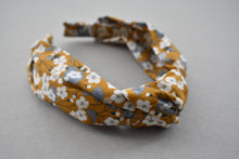 Kids Tot Knot Alice band - Liberty of London yellow mustard floral print