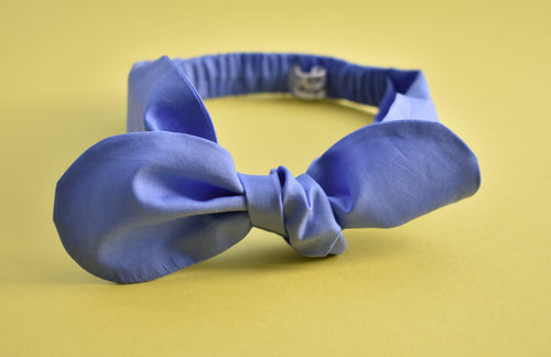 Ladies Tot Knot hairband - Liberty of London Periwinkle Blue-Adult hairband-Tot Knots of Brighton