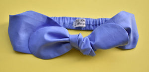 Ladies Tot Knot hairband - Liberty of London Periwinkle Blue - Tot Knots of Brighton