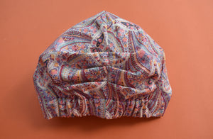 Ladies Turban Hat - Pink Paisley Liberty of London original 1970s - Limited Edition - Tot Knots of Brighton
