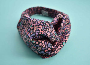 Tot Knot Twisted hairband - Purple Feather - Tot Knots of Brighton