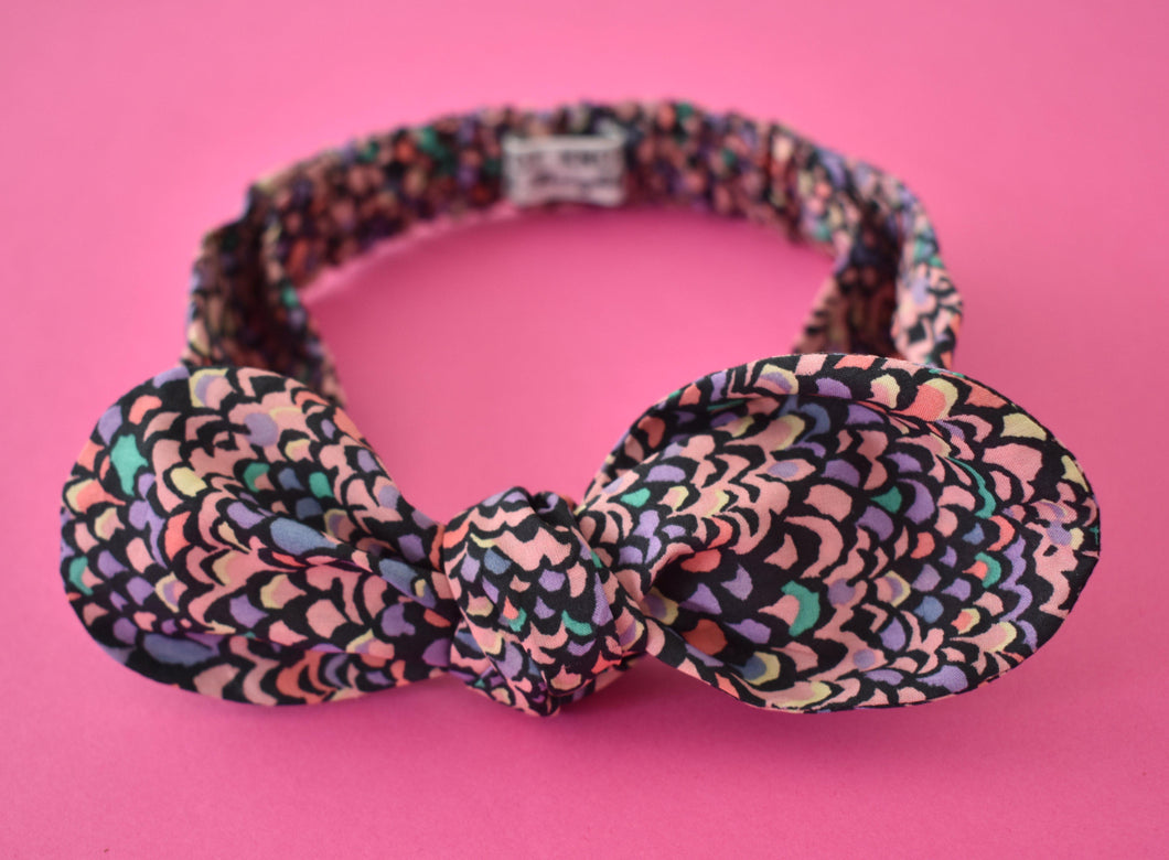 Tot Knot hairband - Purple Feathers - Tot Knots of Brighton
