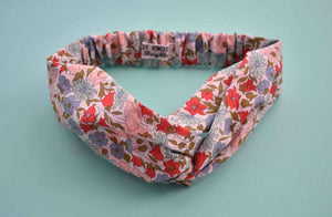Tot Knot Twisted hairband - Poppy and Daisy Floral - Tot Knots of Brighton