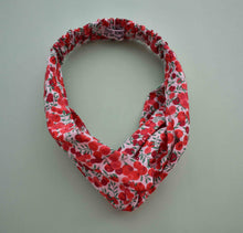 Wiltshire Red and White Berries Twisted Turban hairband and neck scarf - Tot Knots of Brighton