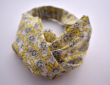 Tot Knot twisted hairband - Yellow & White Floral - Tot Knots of Brighton