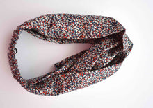 Red, White and Blue Liberty of London Pepper  - Twisted Turban hairband and neck scarf - Tot Knots of Brighton