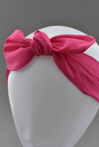 Ladies Tot Knot hairband - Hot Pink - Tot Knots of Brighton