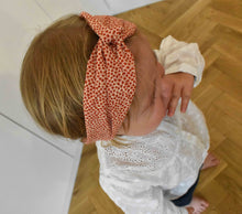 Tot Knot Twisted hairband - Red and White Floral - Tot Knots of Brighton