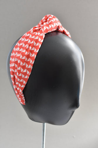Ladies Tot Knot Alice band - Liberty of London Jonathan red & white print-Adult hairband-Tot Knots of Brighton