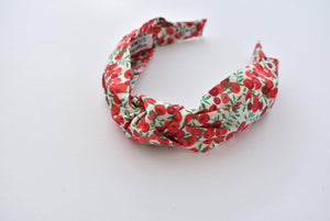 Kids Tot Knot Alice band - Liberty of London Wiltshire Berry print - Tot Knots of Brighton