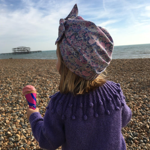 Little Land Girl & Baby Hat - Liberty Rose Floral - Tot Knots of Brighton