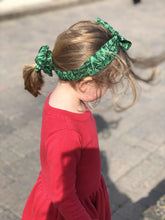 Kids Tot Knot Tie hairband - Liberty of London Kit Green print