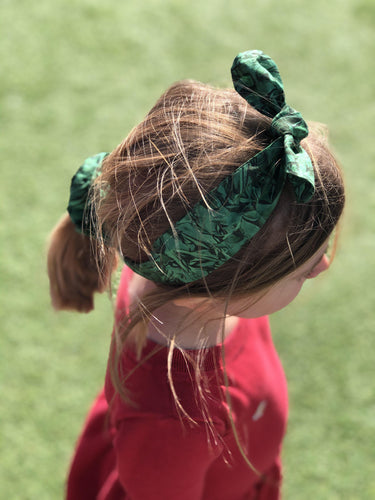 Kids Tot Knot Tie hairband - Liberty of London Kit Green print-Children hairband-Tot Knots of Brighton
