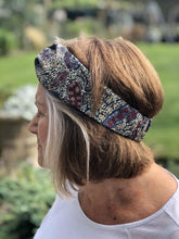 Ladies Twisted Turban Headband - Liberty of London Bourton Paisley print