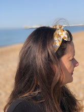 Ladies Tot Knot hairband - Liberty of London Yellow Mustard Floral
