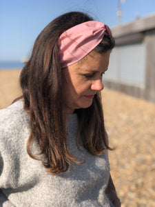 Ladies Twisted Turban Headband - Liberty of London Dusty Pink