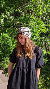 Ladies Turban Hat - Liberty of London Fantasitc Animal print