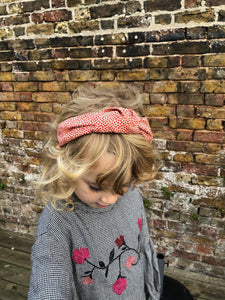 Kids Tot Knot Alice band - Liberty of London Red Marco Liberty print - Tot Knots of Brighton