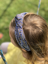 Kids Tot Knot Alice band - Liberty of London blue Torsten print-Children hairband-Tot Knots of Brighton