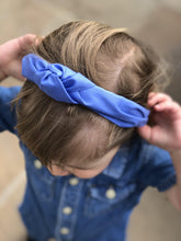 Kids Tot Knot Alice band - Liberty of London Periwinkle blue blue