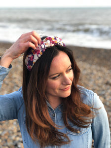 Little Land Girl Baby Hat - Liberty of London Pebble print