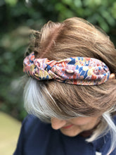 Ladies Tot Knot Alice band - Liberty of London Oban Peacock-Adult hairband-Tot Knots of Brighton