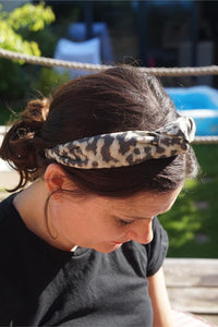 Ladies Tot Knot Alice band - Liberty of London Fantastic animal print - Tot Knots of Brighton