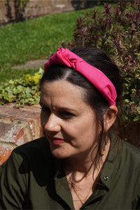 Ladies Tot Knot Alice band - Liberty of London Hot Pink-Adult hairband-Tot Knots of Brighton