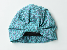 100% silk lined Turban & Head wrap Turquoise Liberty print - Tot Knots of Brighton