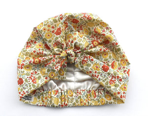 Little Land Girl Baby Hat - Liberty of London D'anjo Floral - Tot Knots of Brighton