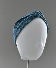 Ladies Twisted Turban Headband - Liberty of London Mayhaze blue - Tot Knots of Brighton