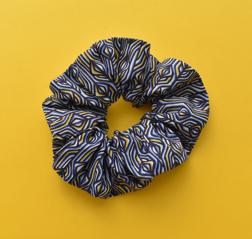 Scrunchie - Liberty of London Torsten blue print - Tot Knots of Brighton