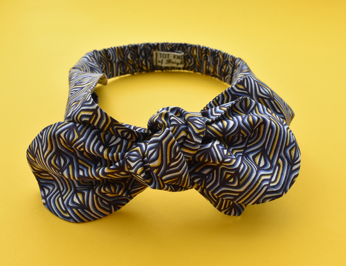 Kids Tot Knot Tie hairband - Liberty of London blue Torsten print - Tot Knots of Brighton