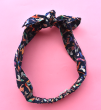Kids Tot Knot Tie hairband - Liberty of London Swimmers print - Tot Knots of Brighton
